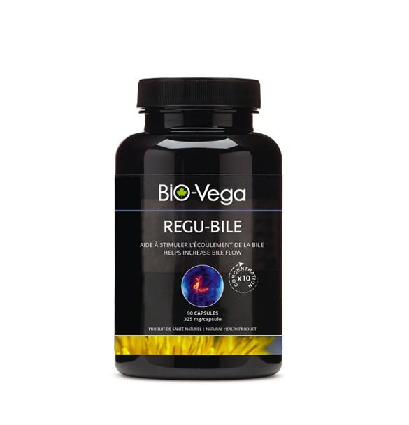 Regu-Bile est un produit de santé naturel à base de plantes qui facilitent l'écoulement de la bile